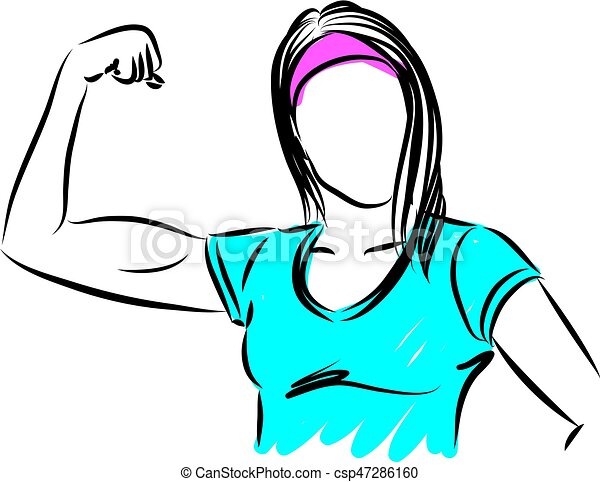 strong woman gesture vector illustration rh canstockphoto com clipart strong arm clipart strong boy