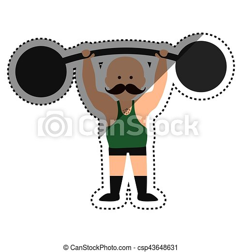 strongman circus cartoon icon vector illustration graphic vectors rh canstockphoto ie  strong black man clipart