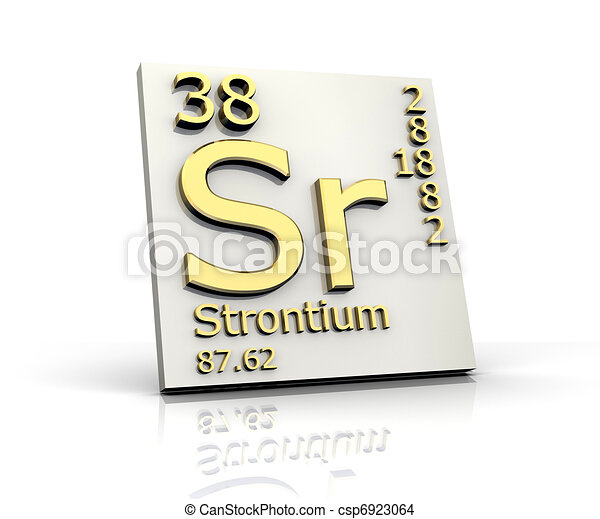Strontium Form Periodic Table Of Elements 3d Made