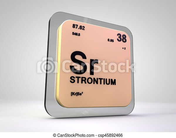 Strontium Sr Chemical Element Periodic Table 3d Render