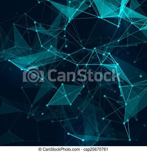 Abstract Low Poly Grey Hell Technologie Vektor Hintergrund. Verbindungsstruktur. Vector Data Science Hintergrund. Polygonaler Vektor Hintergrund. Molekül und Kommunikationshintergrund. - csp25670761