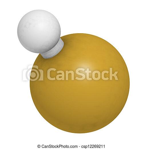 structure., idrogeno, (hf), chimico, molecola, fluoruro - csp12269211