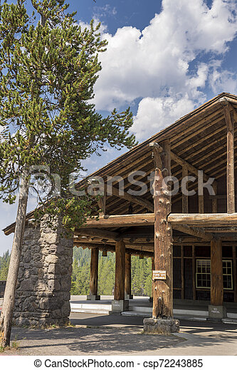 structure in Yellowstone National Park - csp72243885
