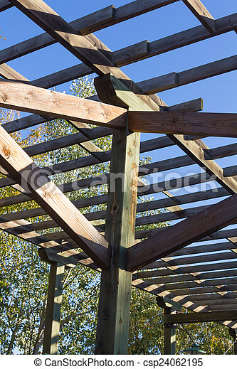 structure of wood for climbing plants - csp24062195