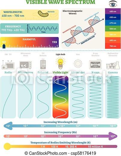 Structure., schädlichkeit, spectrum., elektromagnetisch, waves ...