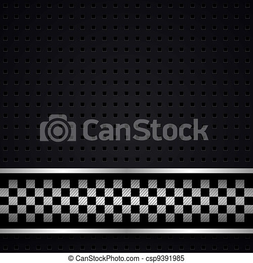 Structured dark metallic perforated for race sheet - csp9391985