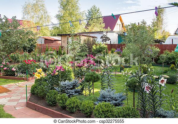 Struiken Met Bloemen Voor In De Tuin.Struiken Wei Bloemen Tuin Bomen