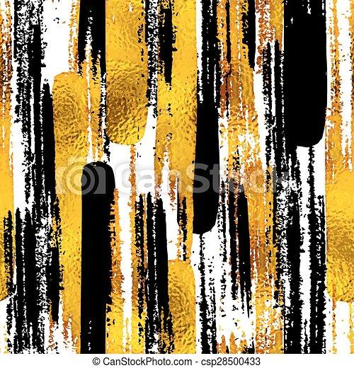 strukturer, skiss, eps10, elements., guld, oavgjord, klotter, seamless, illustration, hand, blog, vektor, design, bakgrund, bläck, toppmodern, svart - csp28500433