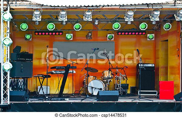 strumenti, musica, palcoscenico - csp14478531