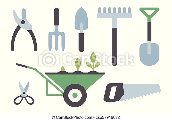 strumenti, set, giardinaggio - csp57919032