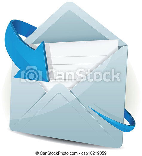 strzała ikona, błękitny, email - csp10219059