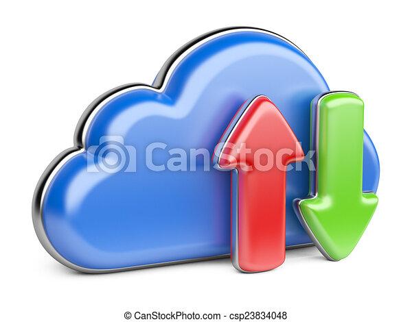 strzały, chmura - csp23834048