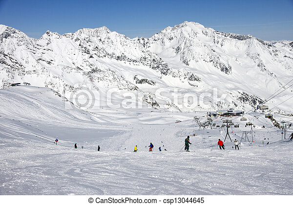 Stubaier Gletscher, Austria - csp13044645