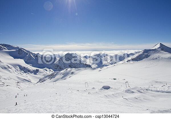 Stubaier Gletscher, Austria - csp13044724