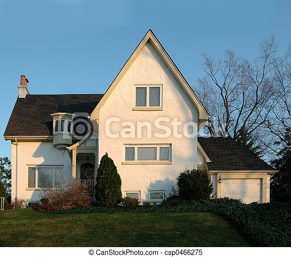 Stucco House in America - csp0466275