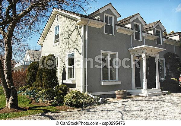 Stucco House - csp0295476