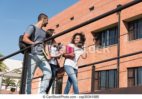 studenci, grupa, campus - csp30341685