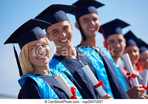 studenci, grupa, młody, absolwenci - csp29470257