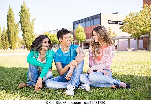 studenci, grupa, młody, campus - csp15031780
