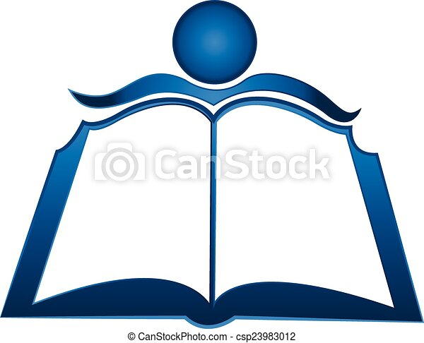 Student and book logo - csp23983012
