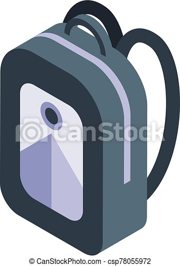 Student backpack icon, isometric style - csp78055972