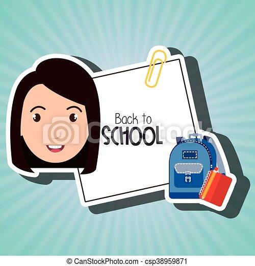 student bag book school