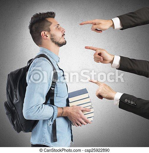 Student blamed unfairly - csp25922890