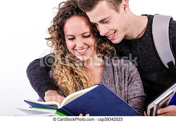 Student Couple - csp39342023