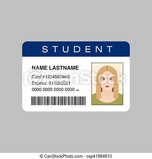 Vector Card Illustration Id Student
