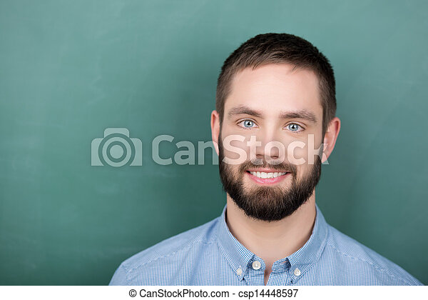 Student in front of a Chalkboard - csp14448597