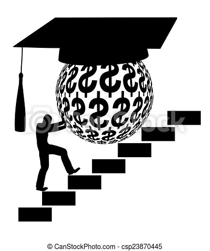 Student Loan Concept Sign Of The Financial Burden Of Higher Education