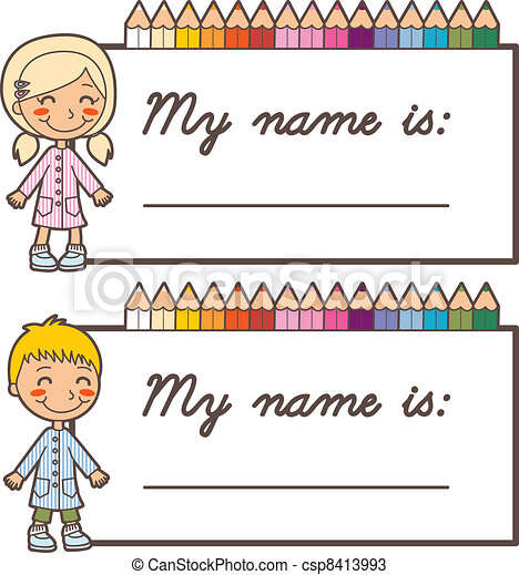 student name stickers set of two back to school name tag stickers