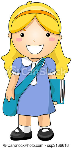 girl student rh canstockphoto com girl student clipart black and white free girl student clipart