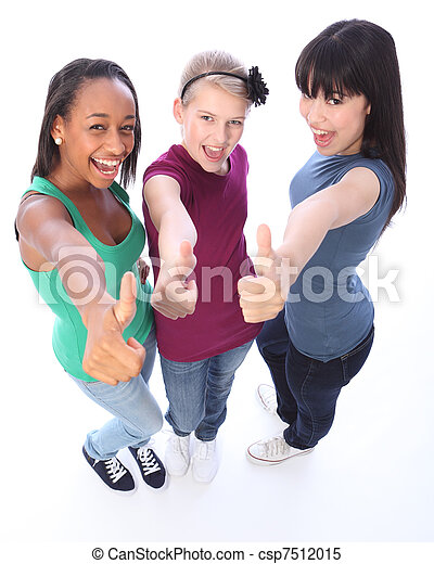 Student success for ethnic teenage girl friends - csp7512015