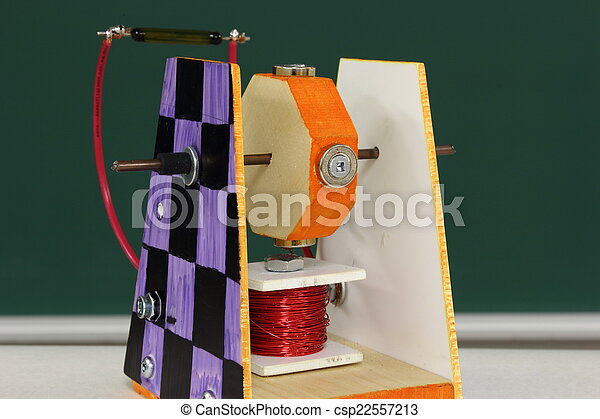 Student technology project: motor magnetic switch - csp22557213