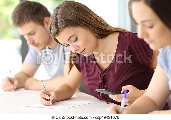 essay cheating during exam Writing a good essay requires synthesis of material that cannot be done in the 20-30 minutes you have during the exam in the days before the exam, you should: a clear point that is being argued (a thesis) sufficient evidenct to support that thesis logical progression of ideas throughout the essay.