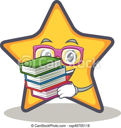 student with book star character cartoon style vector vector clip rh canstockphoto com star student of the week clipart super star student clipart