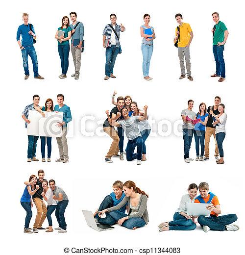 studenten, gruppe - csp11344083