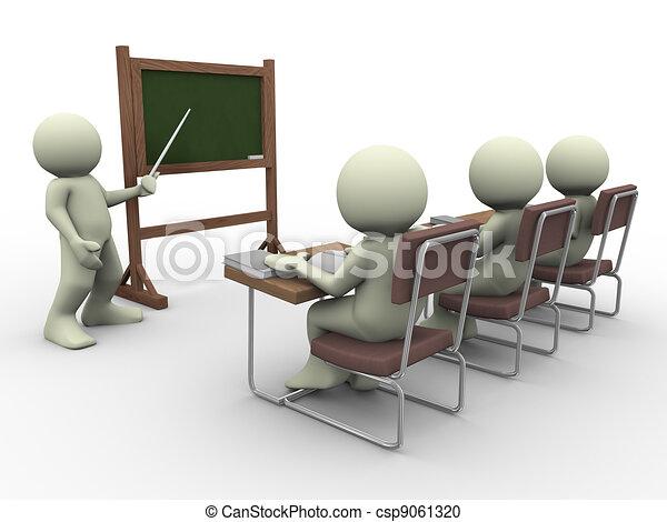 studenten, lehrer - csp9061320
