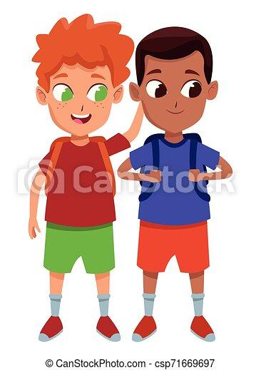 Kindliche Schüler-Cartoon - csp71669697