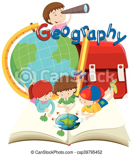 Students and geography subject - csp39795452