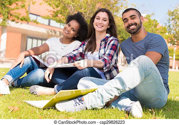 Students at School Campus - csp29826223