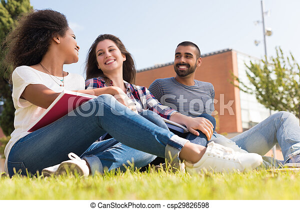 Students at School Campus - csp29826598