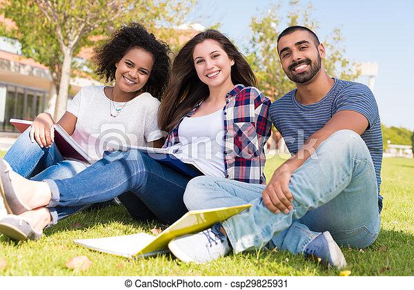 Students at School Campus - csp29825931