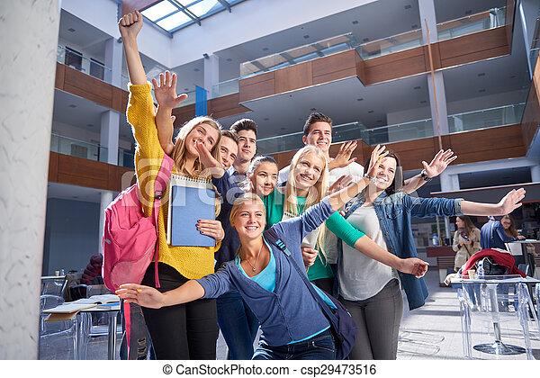 students group  study - csp29473516