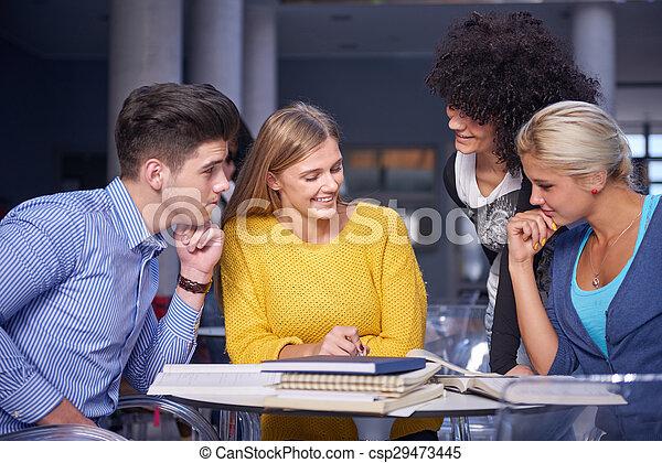students group  study - csp29473445