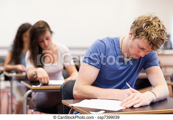 Students having a test - csp7399039