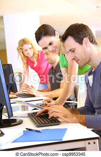 Students in computing training class - csp9953345