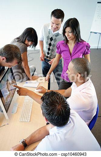 Students in graphic designer training - csp10460943