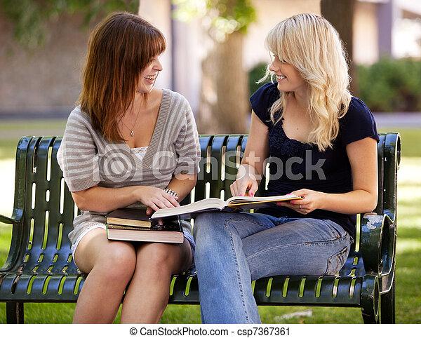 Students Outdoor Study - csp7367361